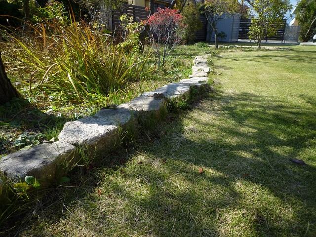木曽石、花壇、ボーダー