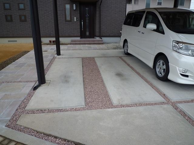 駐車場 化粧砂利