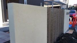 塗り壁 門柱 ウェルカムウォール